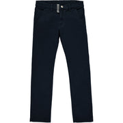 Boys Navy Blue Cotton Trousers