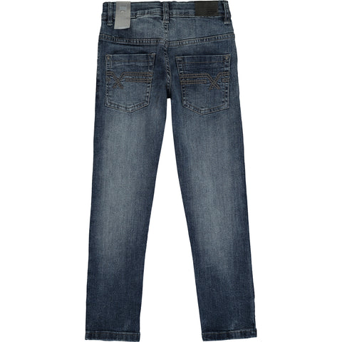 Boys Blue Slim Fit Cotton Jeans