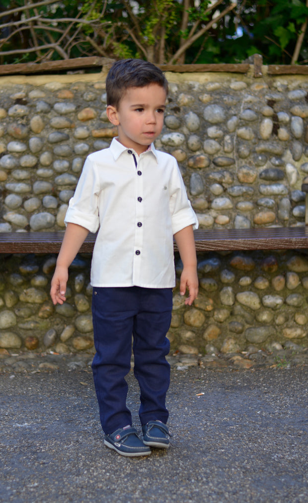 Boys Set White Shirt and Trousers