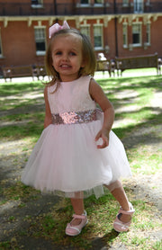 Girl Pink Dress with Sparkly Sequins