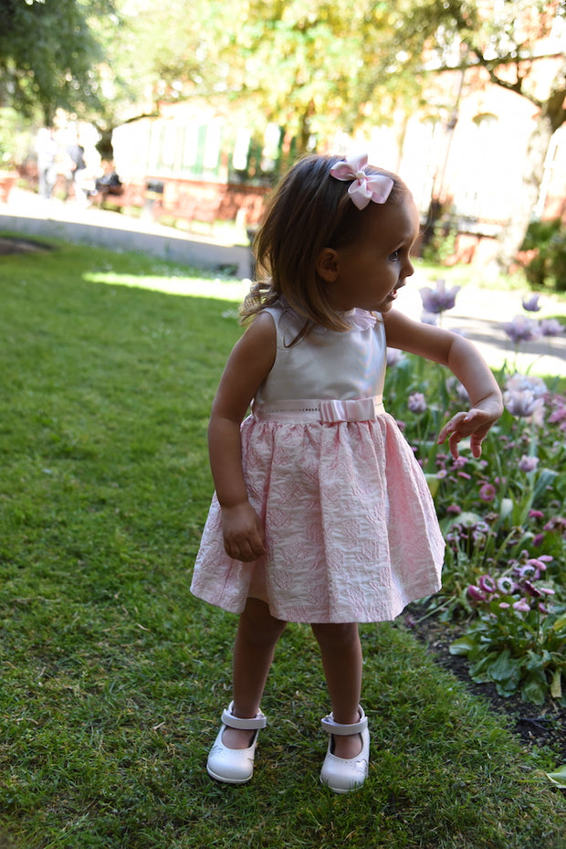 Girl Pink and White Party Dress