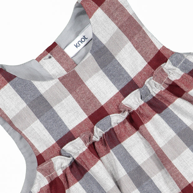 Baby Girl Cotton Checked Romper