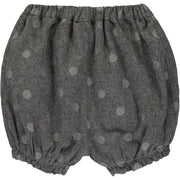 Baby Girl Grey Sparkly Cotton Shorts