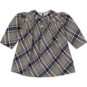 Baby Girl Grey and Blue Tartan Check Dress