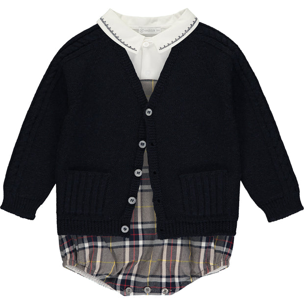 Baby Boy V-Neck Cardigan