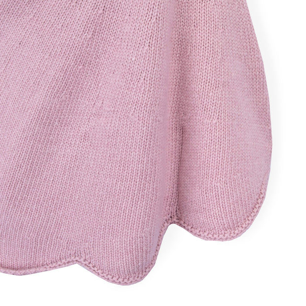 Girls Pink Hooded Poncho