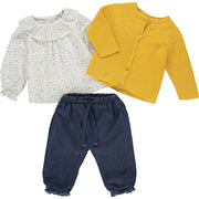 Baby Girl Denim Cotton Trousers