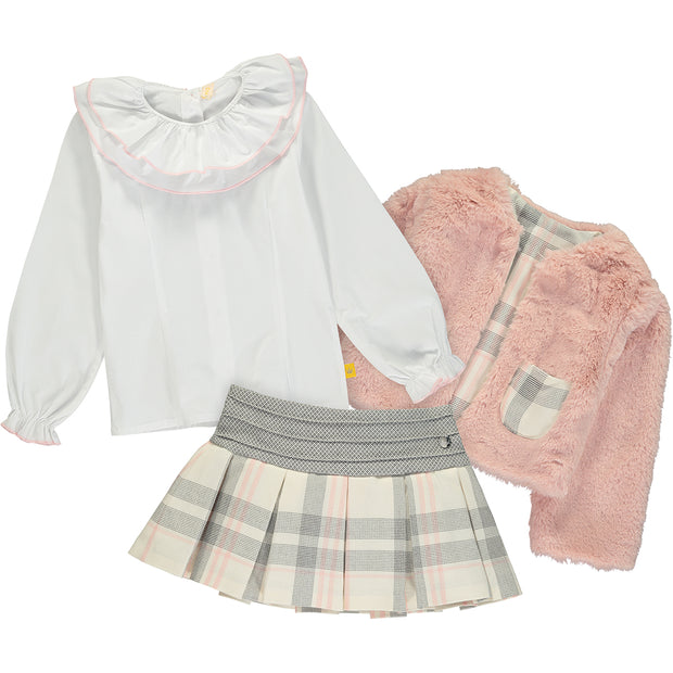 Jacket, Skirt and Blouse Outfit Set