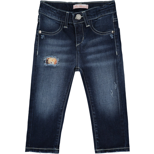 Baby Girl Dark Blue Denim Jeans