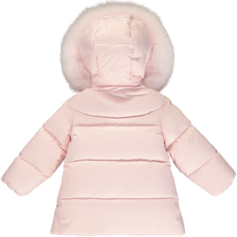 Baby Girl Pink Down Puffer Jacket