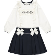 Girls Top and Skirt Outfit Set