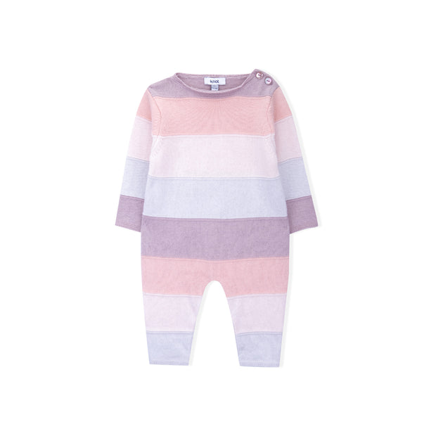 Baby Girl Pink Knitted Babygrow