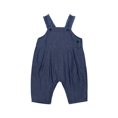 Baby Girl Cotton Denim Dungarees