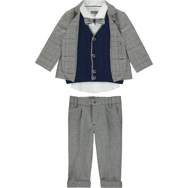 Boys Occasion Smart Suit 5 Piece Set
