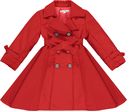Girls Red Trench Coat