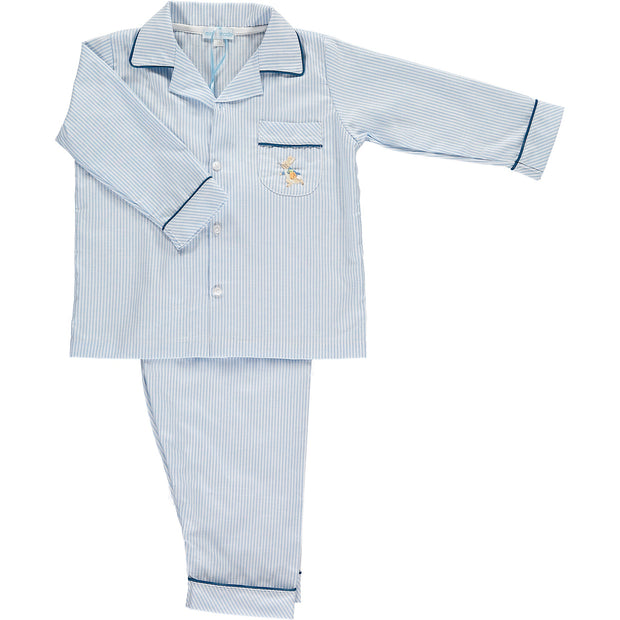 Boys Blue and White Stripe Peter Rabbit Pyjamas
