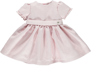Baby Girls Pink Jacquard Dress