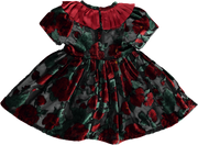 Girl Red and Black Tulle Velvet Dress