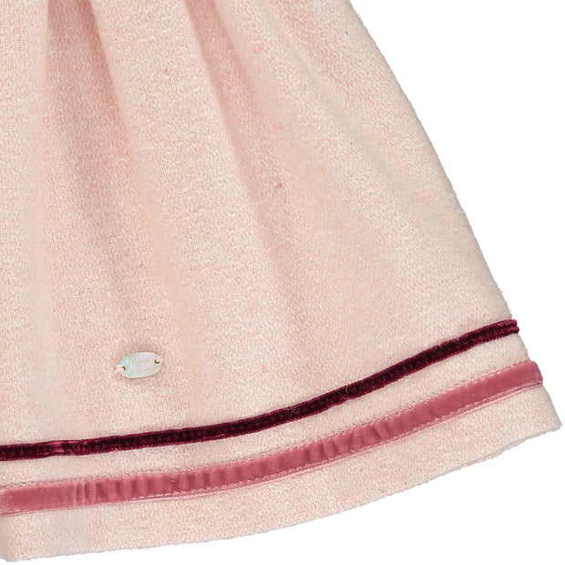 Girl Pink Wool Skirt