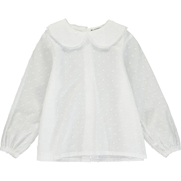 Baby Girl White Cotton Blouse