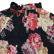 Girl Black Floral Blouse