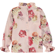 Girl Pink Floral Blouse