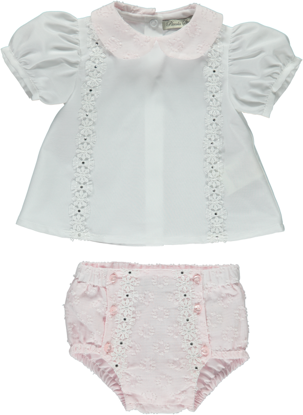 Baby Girl Pink Shorts Set