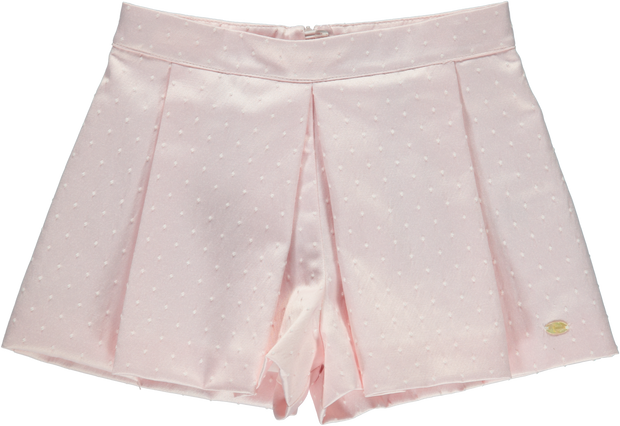 Girls Light Pink Cotton Shorts