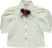 Ivory Cotton Blouse