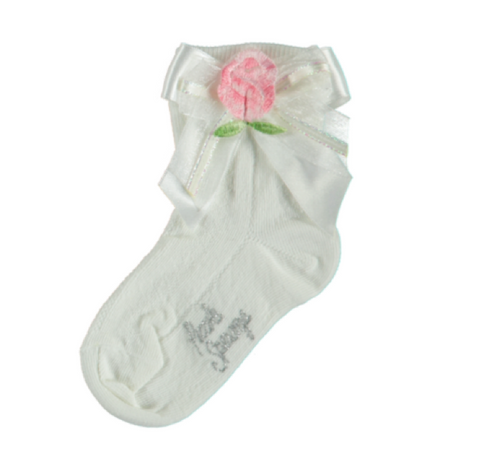 Girls Luxury White Cotton Socks