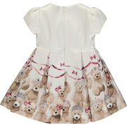 Girl White Teddy Dress