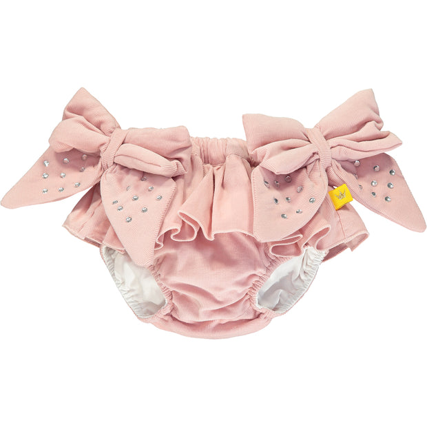 Baby Girl Bodysuit and Pink Cotton Bloomers Set