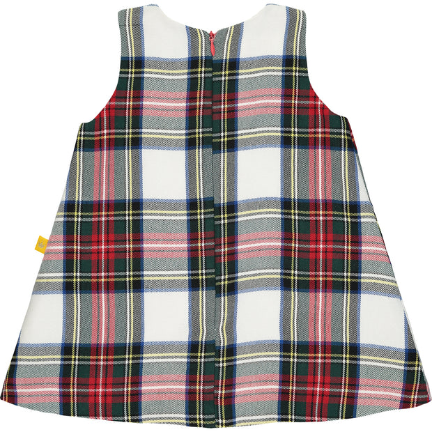 Girls Check Cotton Twill Dress