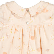 Baby Girl Pink Universe Themed Cotton Dress