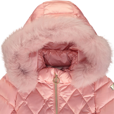 Girls Pink Puffer Jacket