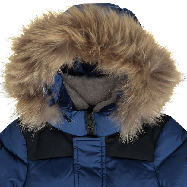 Boys Navy Blue Puffer Jacket