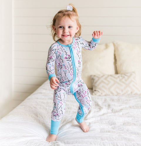 Baby Girl Wildflower Sleepsuit