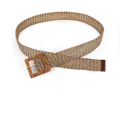 Braid Square Buckle Belt