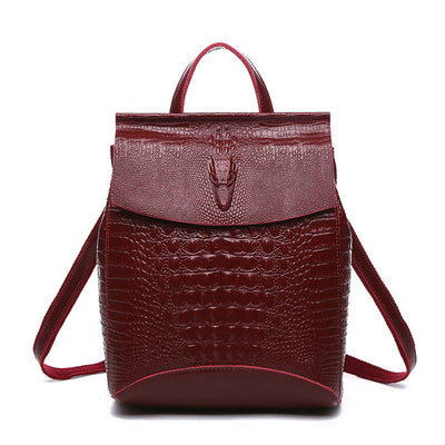 Crocodile  Leather Backpack