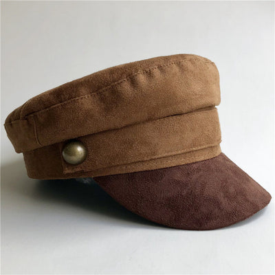Suede Military Hat