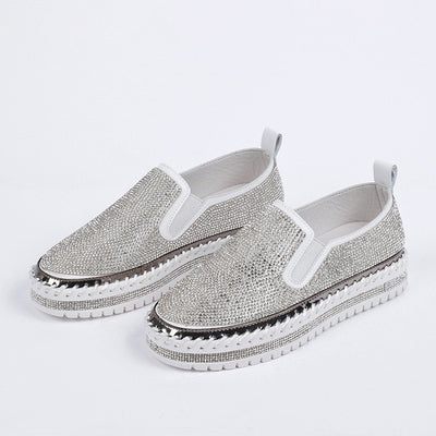 Crystal Glitter Loafers