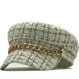 Tweed Plaid Beret