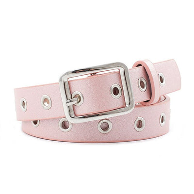 Silver Square Buckle Belt