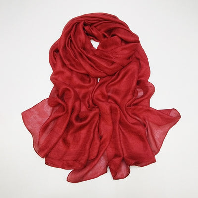 Plain Silk Scarf