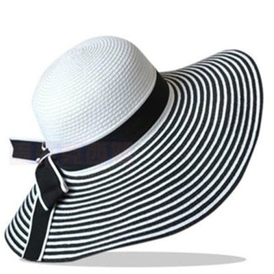 Striped Bowknot Hat