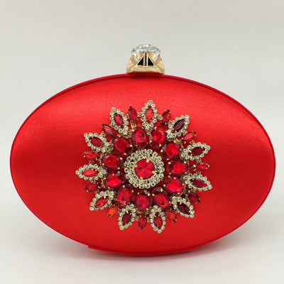 Oval Crystal Clutch
