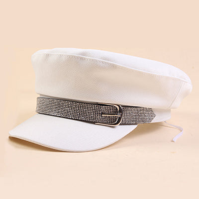 Female Sequins Military Hat