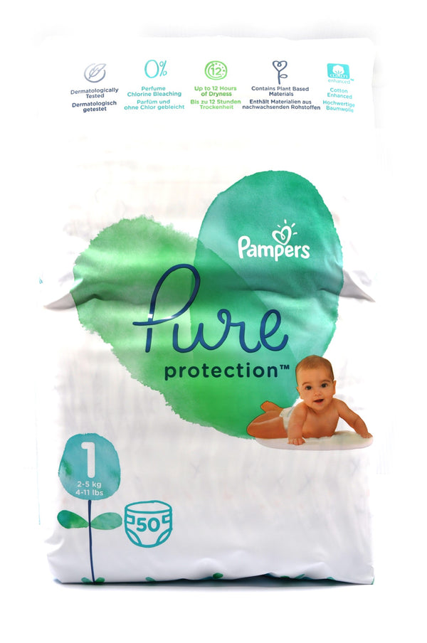 Pampers Pure Protection Diaper Size 1 (50's)