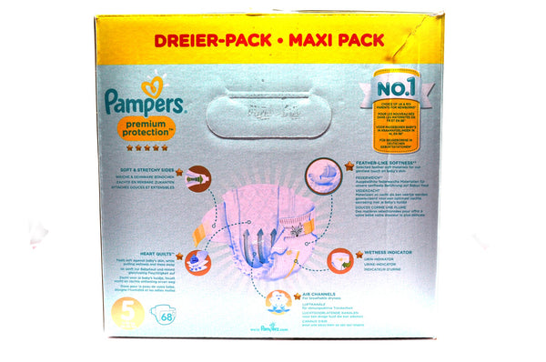 Pampers Premium Protection Diapers Size 5 Maxi Pack (68's)