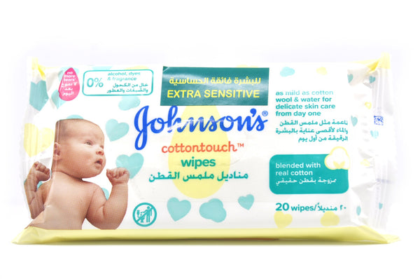Johnson's Cotton Touch Wipes